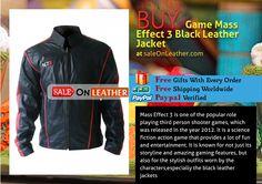 GAME MASS EFFECT 3 BLACK LEATHER JACKET