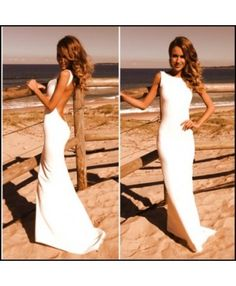 Amy Taylor - IN THE SOMERFIELDS - Backless gown in boatneck style with train.