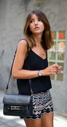 Sequins Embellished Shorts in Black    LOVELY-PEPA