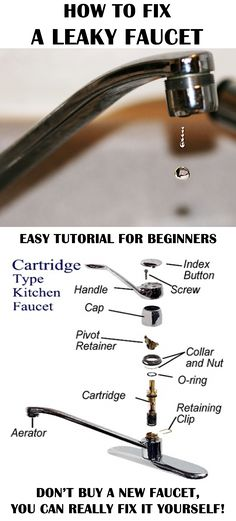 Easiest tutorial for fixing a leaky faucet! The repair is is easy that every beginner can do it!