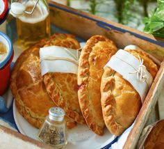 With their golden crust, crimped edges and gorgeous, savoury filling, who could resist these delicious picnic-essential pasties?