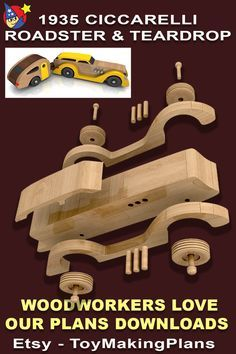 Woodworking Toys, Woodworking Workshop, Woodworking Projects Diy, Wooden Plane, Wooden Car, Cardboard Car, Wooden Toy Trucks, Making Wooden Toys, Diy Wooden Projects