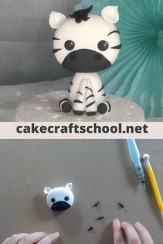 Fondant Teddy Bear, Fondant Dog, Fondant Cakes, Elegant Cake Design, Beautiful Cake Designs, Fondant Animals Tutorial, Fondant Tutorial, Diy Cake Topper, Fondant Toppers