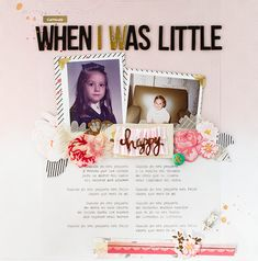 #papercraft #scrapbook #layout.  Marivi Pazos Photography & Scrap www.marivipazos.com