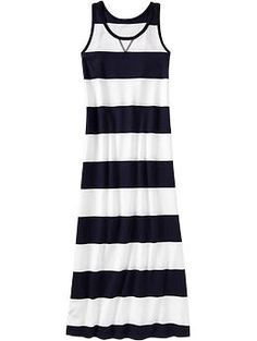 Girls Patterned Maxi Tank Dresses - I'm seriously contemplating getting this for myself