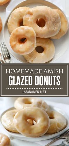 Celebrate the most special of occasions with delicious Amish Glazed Donuts! This recipe is easy to make from scratch and truly a labor of love. Your family will love this melt-in-your-mouth homemade treat covered in a smooth glaze! Pin this breakfast idea for later! Jello Recipes, Donut Recipes, Pastry Recipes, Best Dessert Recipes, Brunch Recipes, Fun Desserts, Sweet Recipes, Delicious Desserts, Breakfast Recipes