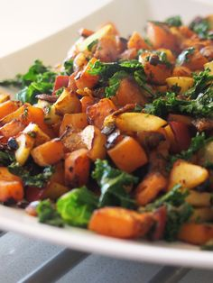Sweet Potato and Kale Hash Ratatouille, Chana Masala, Healthy Dinner Recipes, Kale, Sweet Potato, Pork, Potatoes, Ethnic Recipes, Pork Roulade