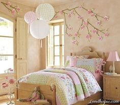 Cute Spring Bedroom spring pink bedroom home bed pastel decorate bedding