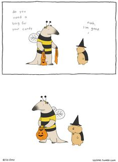 Artist Liz Climo creates  charmingly witty comics starring a quirky assortment of talking creatures.