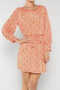 Triangle Print Dress If you love dresses salediem has the look for Fall #salediem #fall#fashion. Shipping is FREE!