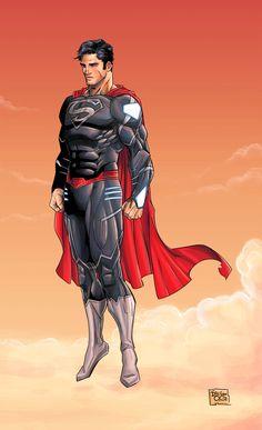 Superman - New 52 Black Suit by DiegoOlortegui on deviantART