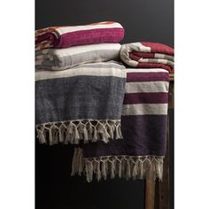 Shop for Troy Cotton Striped 50x70-inch Throw  and more for everyday discount prices at Overstock.com - Your Online Blankets
