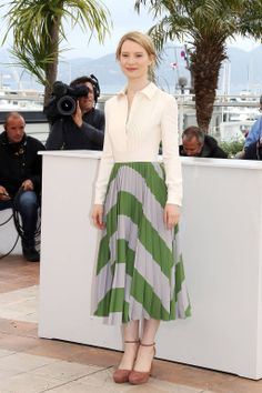 Cannes Fashion - Red Carpet Dresses at Cannes 2014 - Mia Wasikowska in Valentino