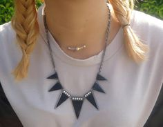 Accesorios, collar, spiked necklace, rock glam, style,