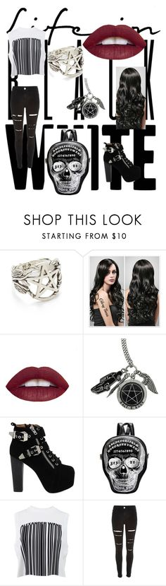 """Untitled"" by paige777 ❤ liked on Polyvore featuring Pamela Love, L.A. Girl, Hot Topic, Jeffrey Campbell, Alexander Wang and River Island"