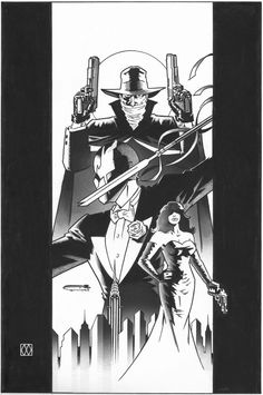 Grendel vs The Shadow by Matt Wagner