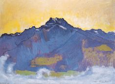 The Dents du Midi from Chesieres, Oil On Canvas by Ferdinand Hodler (1853-1918, Switzerland)