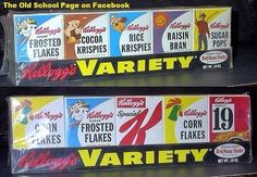 This was wonderful when these little boxes of cereal came out. Just the right size, a different choice everyday and some of them were made so you could actually open the box on perforated markings, pour in the milk and eat right out of the box like it was a bowl!