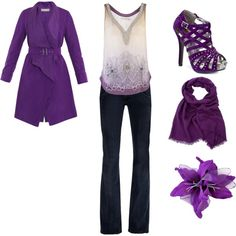 Purple! thats a no go on the jacket though!