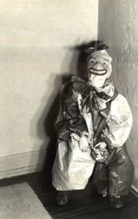 This would have been the clown we took turns hiding in each others' rooms as a kids to freak each other out.