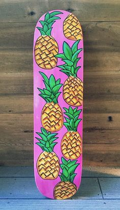 Pineapple Skateboard by LavaBoards on Etsy