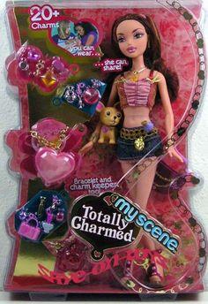 My Scene Totally Charmed Chelsea Disney Barbie Dolls, Barbie Toys, Barbie I, Doll Toys, Vintage Barbie, Vintage Toys, Black Bratz Doll, Bratz Doll Outfits, All Disney Princesses