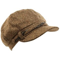 5eed664080b Winter Ladies Tweed Chrome Chain 8 Panel Newsboy Gatsby Cabbie Cap Hat  Brown M