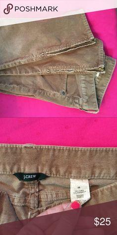 J. Crew corduroy pants, bottoms unzip. Size 26 J. Crew corduroy ankle pants, bottoms unzip. Size 26 J. Crew Jeans Ankle & Cropped