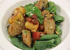 ... Apple and Chicken Sausage Salad with Rosemary and Toasted Hazelnuts