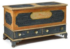 Painted and decorated Schwenkfelder dower chest 1832, Freeman's Auctions