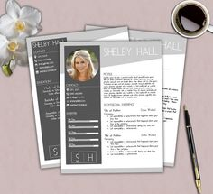 Resume Template Free Cover Letter Easy By Theprintableemporium