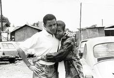 young barack & michelle