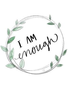 I am enough because Jesus is enough. Digital print. #beautifullytimedcalligraphy #beautifullytimedco
