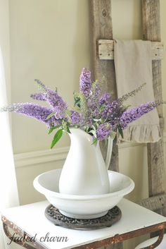 Faded Charm: ~Butterfly Bush Blooms~