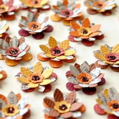 PAPER FLOWERS  HANDMADE Fall Colors 25 by PapersAndPetals on Etsy