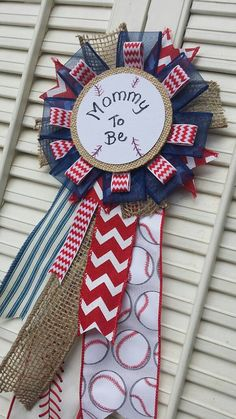 Baseball Theme Mommy to Be Pin, Red Blue Baseball Theme Baby Shower Decorations Baby Shower Decorations For Boys, Boy Baby Shower Themes, Baby Shower Gender Reveal, Baby Decor, Fiesta Baby Shower, Baby Shower Niño, Baby Shower Games, Baseball Nursery, Baseball Themed Baby Shower