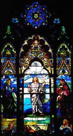 LaFarge Chancel Windows;Trinity Episcopal Church; 389 Delaware Avenue, Buffalo, NY  Designer: John LaFarge  Date installed: 1886   Style: Opalescent  Transfiguration window
