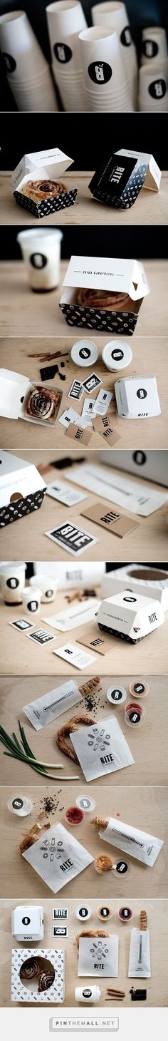 BITE on Behance curated by Packaging Diva PD.  Bite interior design, branding and packaging design for a bakery & café.