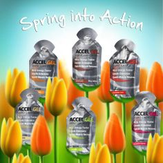 Spring into action with Accel Gel containing the 4:1 carbohydrate to protein ratio. Uniquely designed to increase endurance while limiting muscle damage during your active lifestyle #Energy