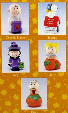 hallmark peanuts figurines 2013 | Hallmark Figurine Set: Peanuts Gang in Pumpkin Patch Merry Miniatures ...