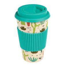 Bambus Kaffee To Go Becher Kaktus
