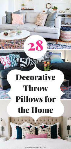 easy home decor ideas, home decor, best throw pillows, throw pillows for the living room, throw pillows bedroom, colorful throw pillows #pillows #homedecoreasy #homedecorlivingroom