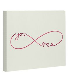 Look what I found on #zulily! Infinite' You & Me' Canvas Wall Art #zulilyfinds