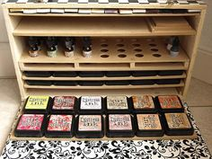 Home made distress ink storage cabinet. Wow....