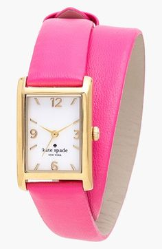 kate spade new york 'cooper' double wrap watch, 20mm x 25mm available at #Nordstrom