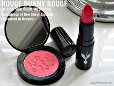 Review & FOTD Feat. Rouge Bunny Rouge Original Skin Blush (Orpheline) & Succulence of Dew Sheer Lipstick (Dissolved in Dreams)