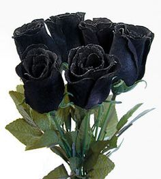 Black roses don't actually exist in nature but are achieved through genetic manipulation.