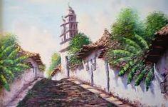Resultado de imagen de paisajes al oleo de pueblos