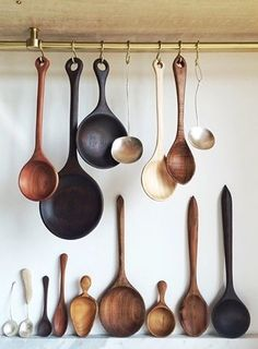 We're updating the shop! New, one-of-a-kind pieces and restock of ongoing items tomorrow at EST. Carved Spoons, Ceramic Spoons, Whittling Wood, Wood Spoon, Wooden Kitchen, Wood Cutting, Wood Art, Wood Crafts, Wood Projects