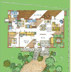 ROOM|老後まで快適に過ごせる住まいを見つけるメディア Japanese House, Art And Architecture, My Dream Home, House Plants, Floor Plans, Exterior, Flooring, How To Plan, Interior Design